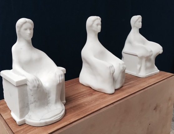 Three Seated Figures by Daniel Silver 2015 maquette for Radcliffe Infirmary Commemorative Commission 1 (2)