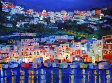 Mark Sofilas, Into the night, Oils on canvas, 80cm x 60cm